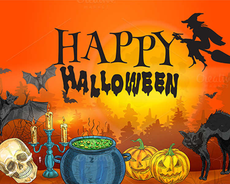 halloween-cartoon-poster-templates