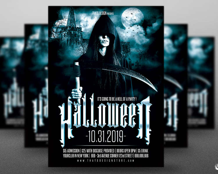 halloween-castle-party-flyer-template