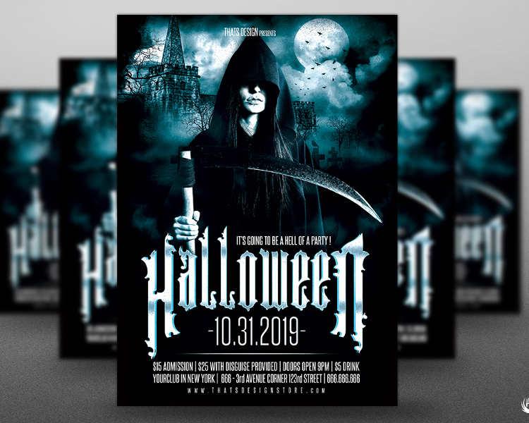 halloween-castle-party-flyer-template
