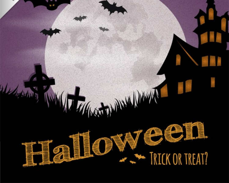 halloween-dark-house-poster-templates