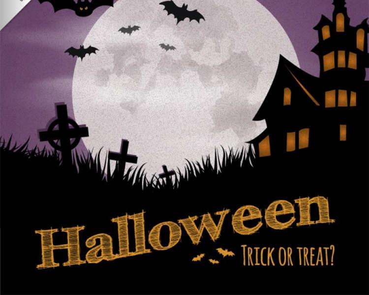 halloween-dark-house-poster-templates
