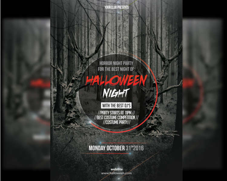 halloween-forrest-party-flyer-template