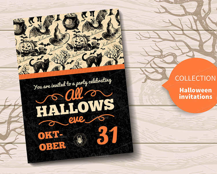 halloween-hand-drawn-invitatio-templates
