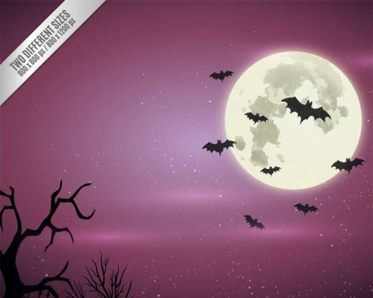 halloween-night-tree-poster-template