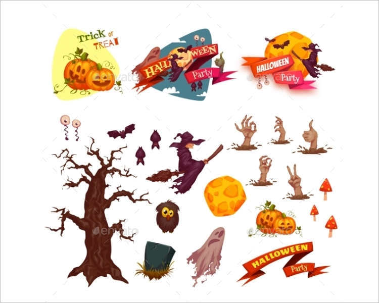 halloween-party-vector-elements