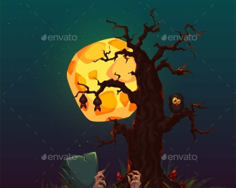halloween-scary-tree-background-party-vector