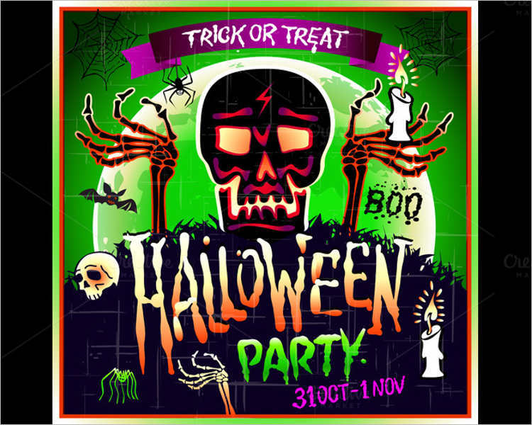 halloween-skull-party-vector