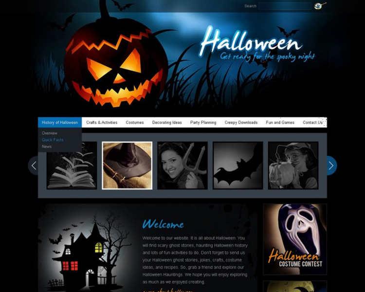 halloween-slider-flash-cms-templates