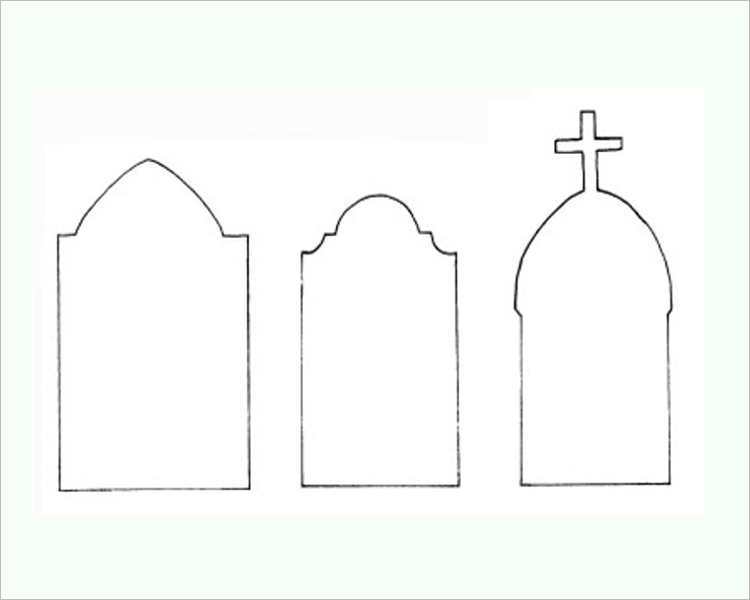 22 printable halloween templates creativetemplate for Tombstone templates for halloween