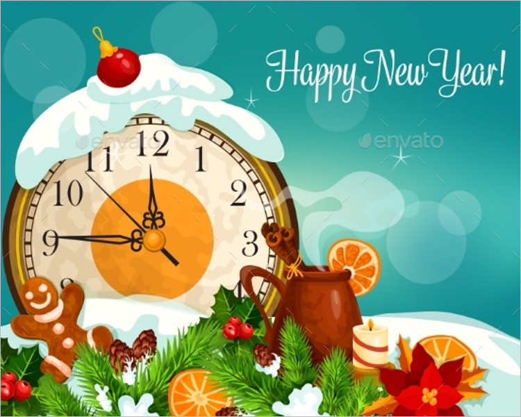 New Year Greeting Card Templates Free Psd Ai Illustrator