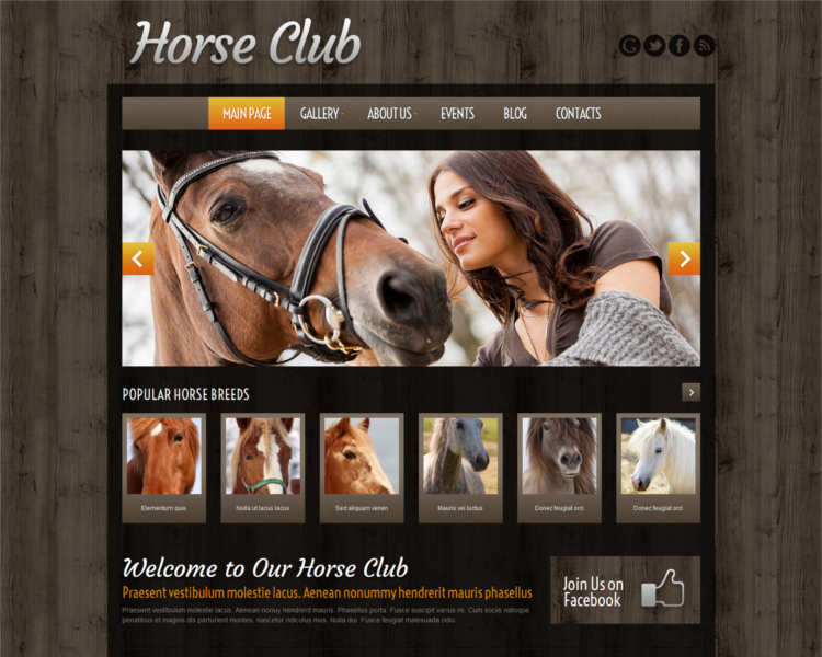 horse-club-wordpress-theme-templates