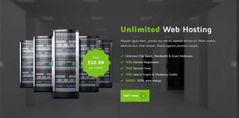hosting-website-theme-templates