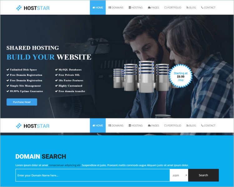 hoststar-hosting-website-theme-templates