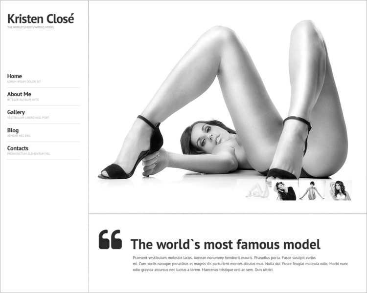 kristen-close-model-agency-website-templates