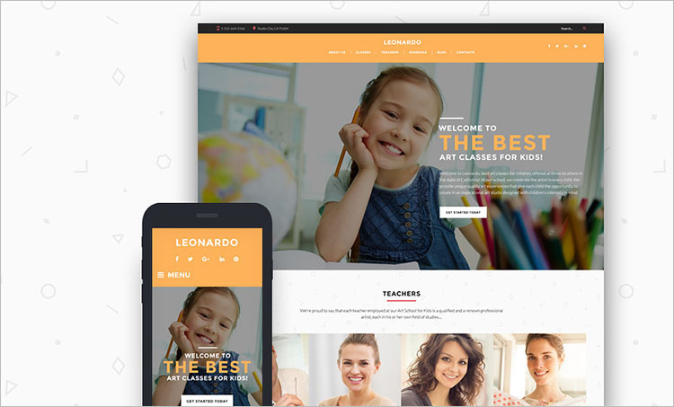 leonardo-art-school-for-children-wordpress-theme