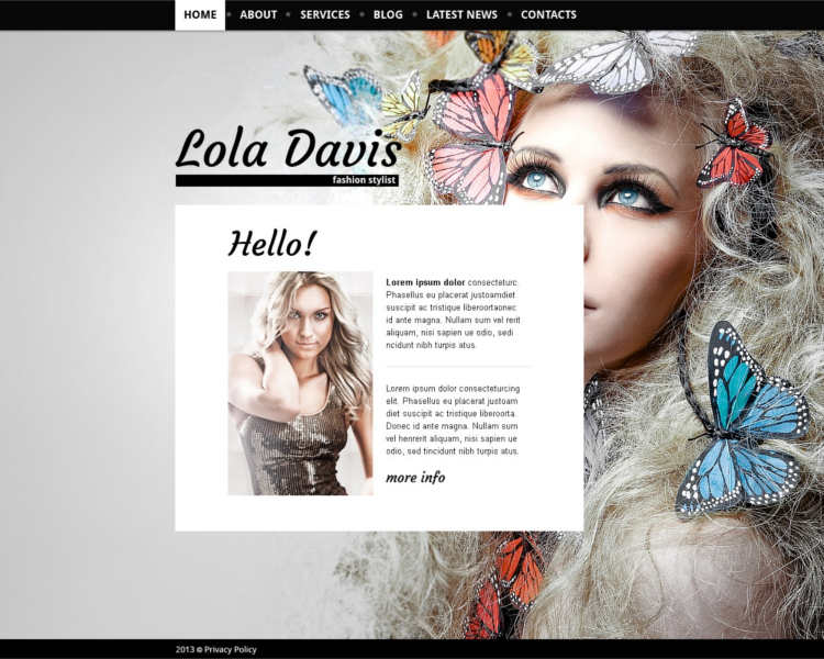 lola-davis-model-agency-website-templates