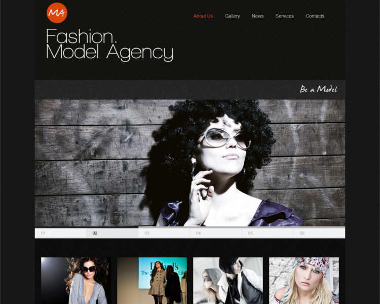 m4-model-agency-website-templates