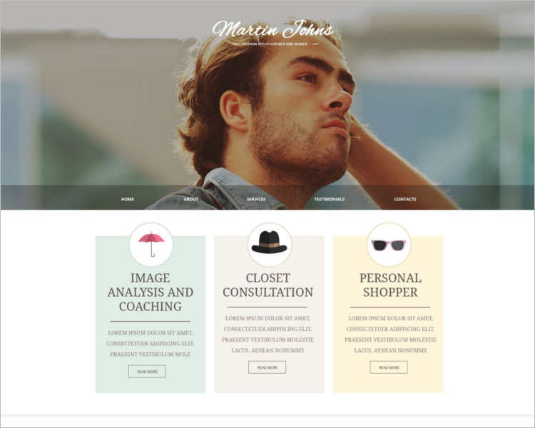 martix-johns-fashion-design-website-templates