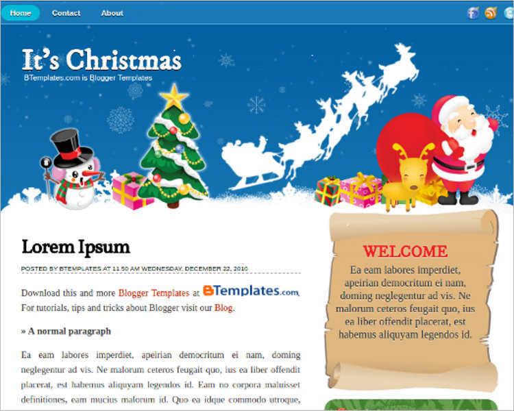 minimalist-christmas-blogger-theme-templates