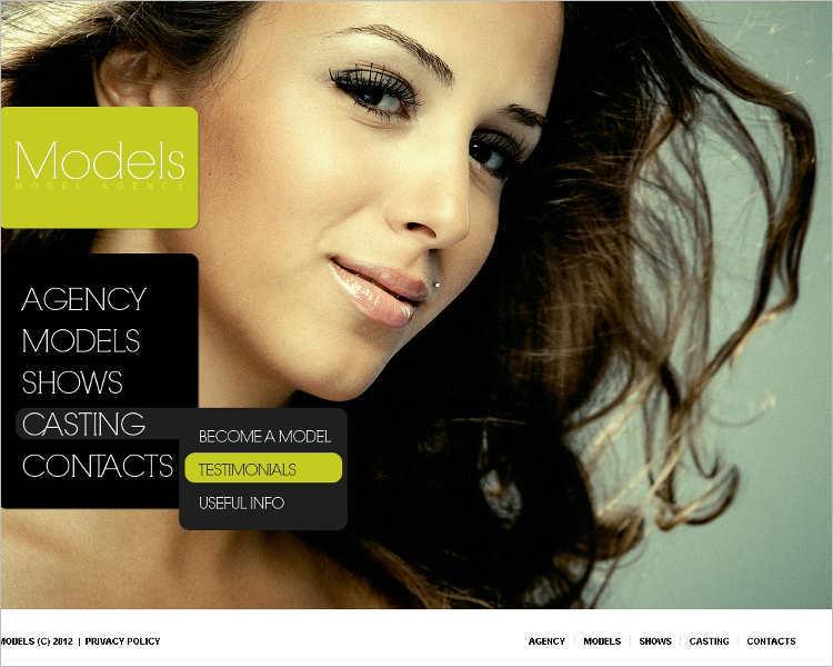 model-agency-casting-website-templates
