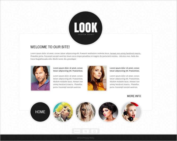 model-agency-look-website-templates