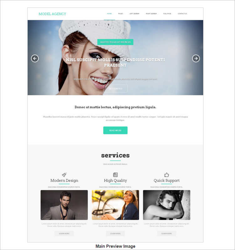 model-agency-services-website-templates