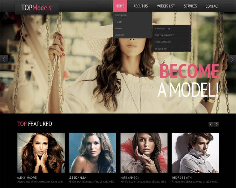 model-featured-agency-website-templates