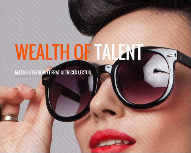model-talent-agency-website-templates
