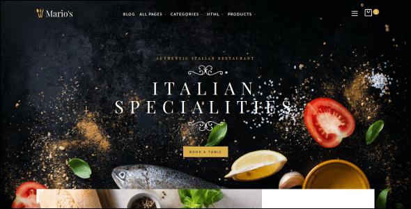 Moderen Restaurant Opencart Theme