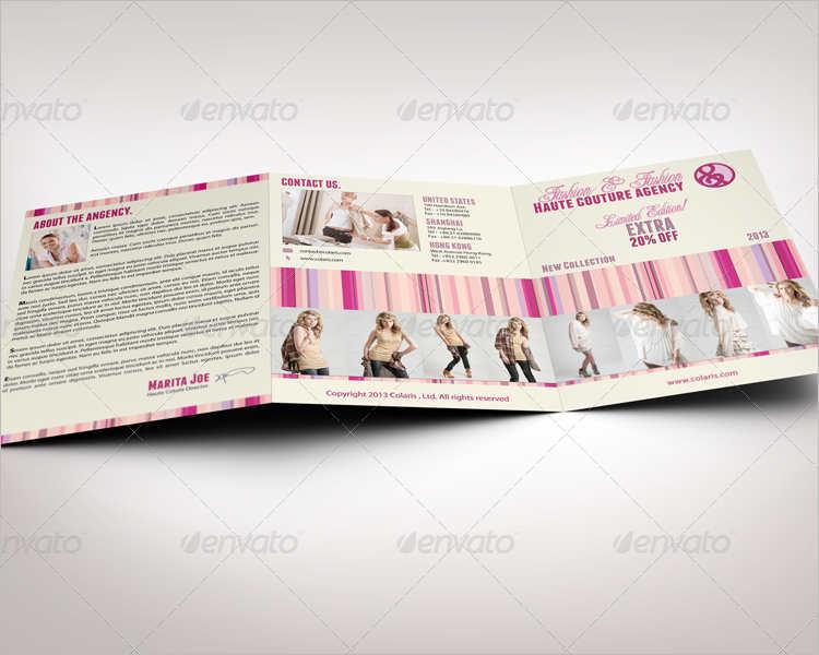 modern fashion tri fold brochure template