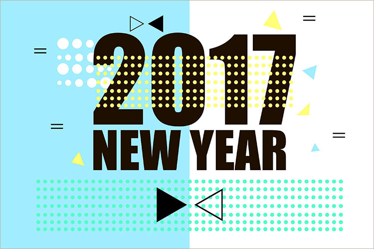 modern-new-year-2017-poster-design-templates