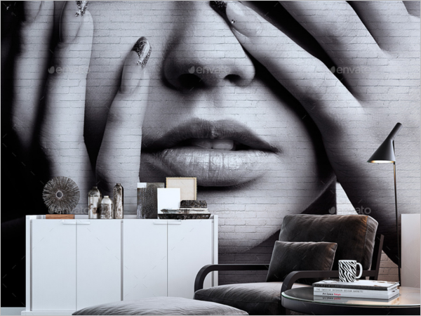 Modern Wall Art Mockup Design