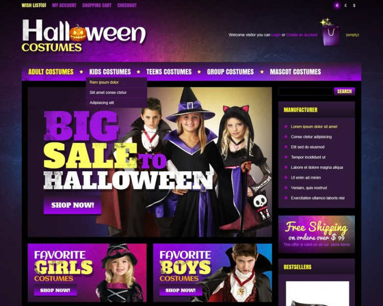 8 halloween website themes free download creative template
