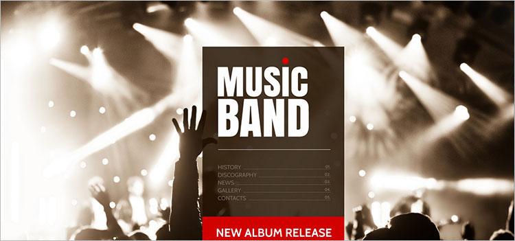 music-album-band-website-theme-templates