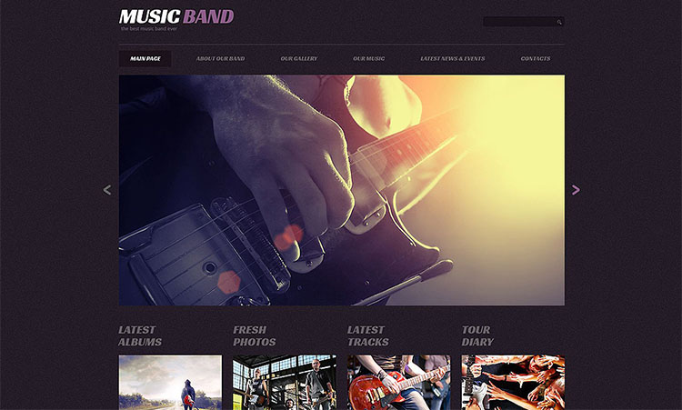 music-band-responsive-wordpress-theme-guitar