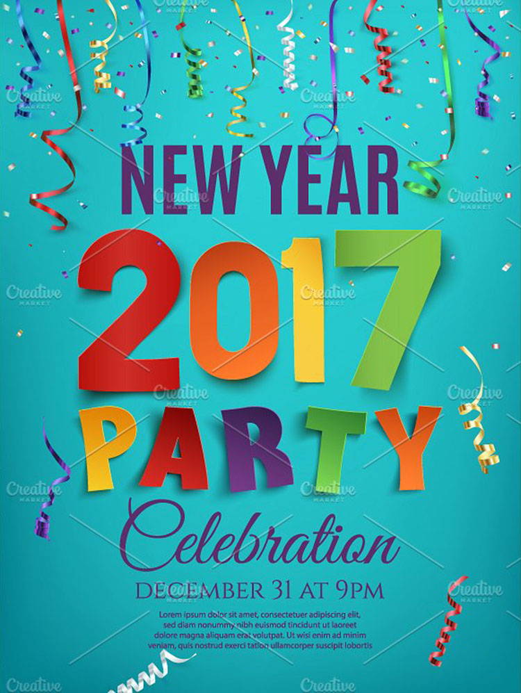 new-year-2017-party-design-templates