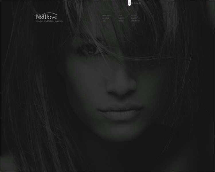 newave-model-agency-website-templates