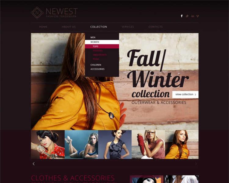 newest-women-fashion-design-website-templates