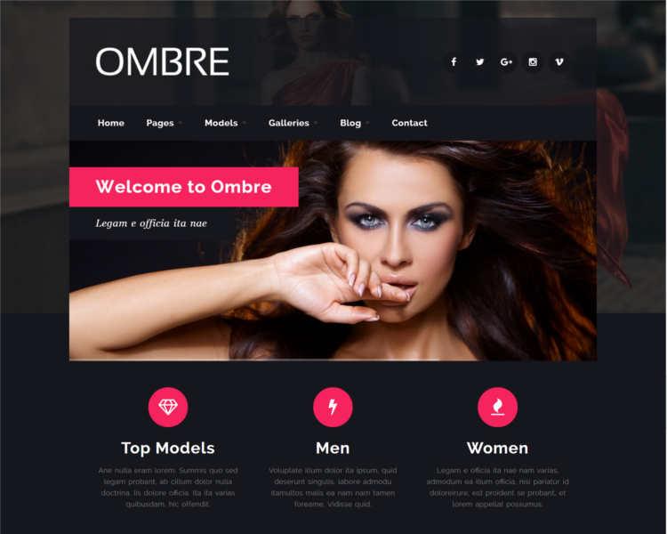 ombre-model-agency-website-templates