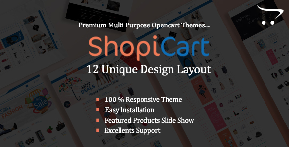 Online Multi Auto parts OpenCart Template
