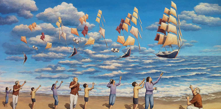 optical-magic-kites-painting-in-water