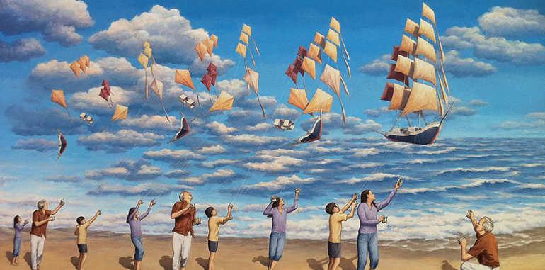 optical-magic-kites-painting-in-water