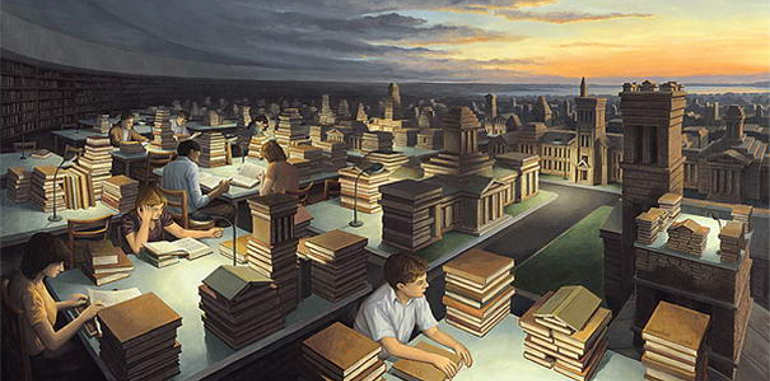 optimal-library-illusion-painting