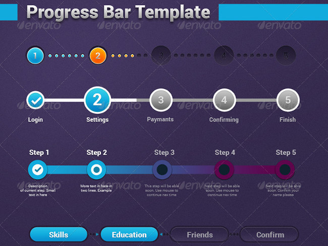 19  progress bar designs free psd design templates