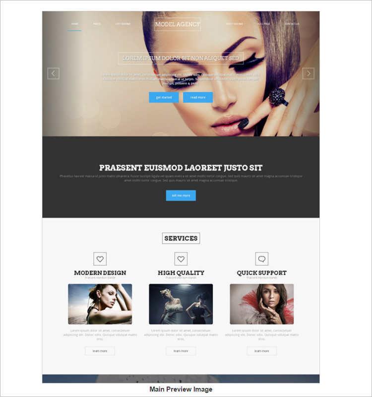 portfilo-model-agency-website-templates