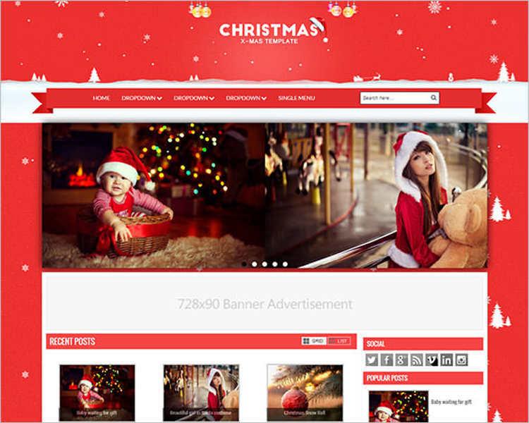 premium-christmas-blogger-theme-templates