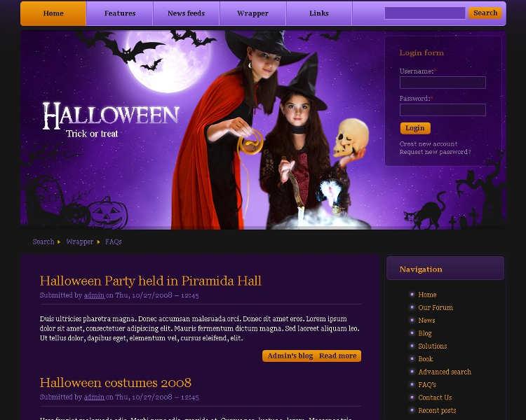 premium-halloween-drupal-theme-templates