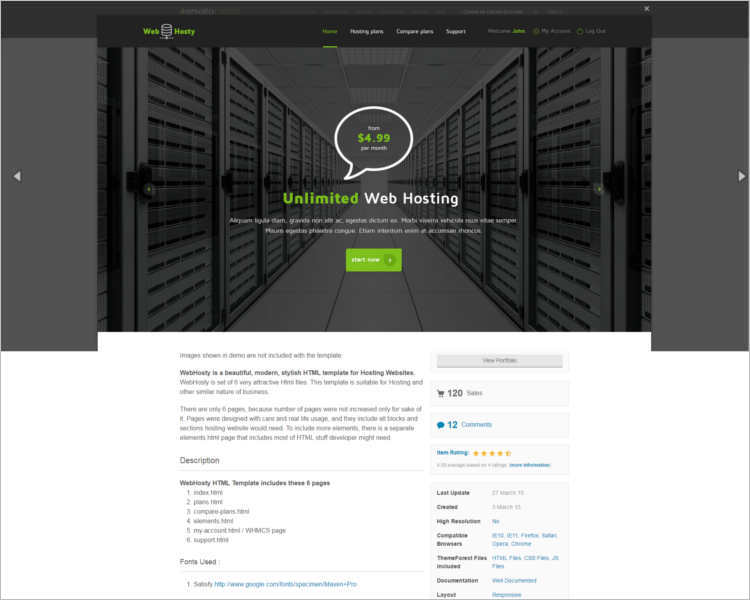 premium-hosting-website-theme-templates