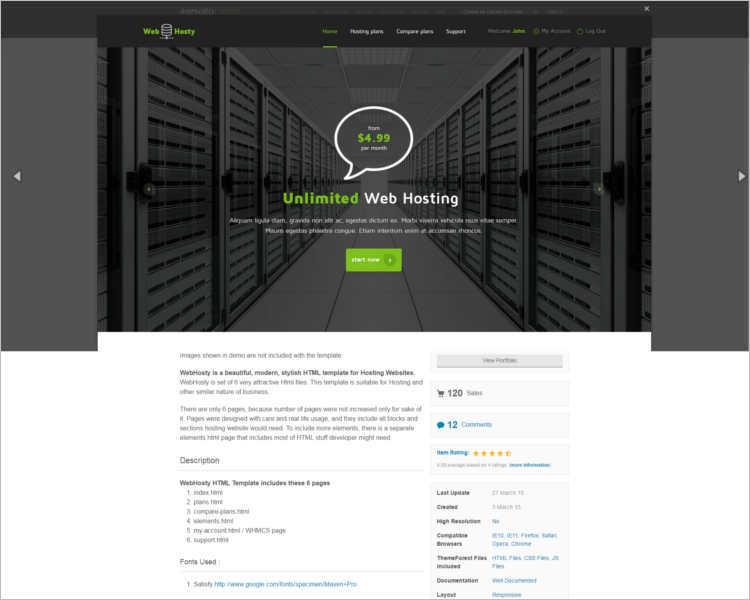 premium-hosting-website-theme-templates