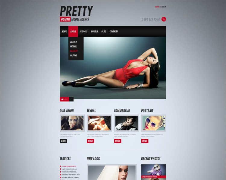 pretty-model-agency-website-templates
